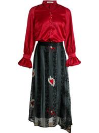 6cc381cd2e Faldas rojas para el resorte online-2019 Mujeres de verano