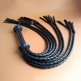 adult games spanking NZ - New rushed cheap flogger leather whip adult games flirt tools cosplay slave bdsm fetish sex toys spank sexo whips for couples Y200409