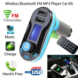 Usb Mp3 Player Adapter Australia - Auto Bluetooth Car Kit HandsFree Radio Adapter Kit USB Charger Vehicle Bluetooth Player Bluetooth Car FM Transmitter MP3 Player