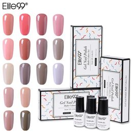 nude uv color gel 2021 - Elite99 5PCS Nude Color Gel Polish Set Soak Off UV LED Nail Varnish Lacquer Gel Polish Manicure Nail Gel Set with Gift Box