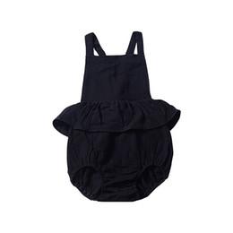 424faa3978a9 New Black Baby Girls Sleeveless Rompers Dresses Must-have Newborn Girls  Bodysuits One-piece Sleeveless Pink Belt Blackless Girls Jumpsuit