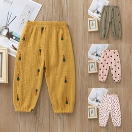 wholesale boys sweatpants UK - Kids Baby Clothing Pants Sweatpants Toddler Baby Boy Girl Long Pants Trousers Leggings Harem Bottoms Dot Cherry Print Pant