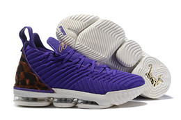 Chinese  2019 New Style XVI 16 Harlem's Fashion Purple Row Basketball Shoes Top Quality Popular Mens Trainers 16s HFR Sports Sneakers Size 40-46 manufacturers