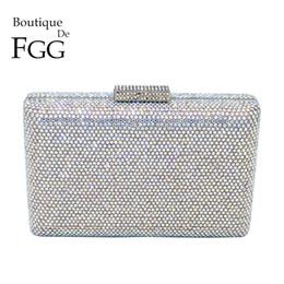 $enCountryForm.capitalKeyWord Australia - Boutique De Fgg Dazzling Silver Crystal Ab Women Evening Clutch Handbag And Purse Bridal Wedding Party Chain Shoulder Bag Y190626