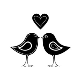 Window Stickers For Birds Australia - Birds For Auto Car Bumper Window Vinyl Decal Sticker Decals Warm And Romantic