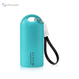 keychain charging cable NZ - 2 in 1 Keychain Mobile Power Factory Wholesale Full Capacity 4000 Mah Charging Treasure Gift Power Bank Apply to Android   IPhone