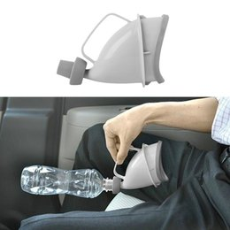 Wholesale Portable Travel Urinal Car Handle Urine Bottle Urinal Funnel Tube Outdoor Camp Urination Device Woman emergency Stand Up Pee Toilet