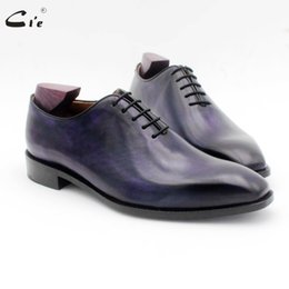$enCountryForm.capitalKeyWord NZ - cie square toe whole cut patina deep purple men's dress shoe genuine full grain calf leather men leather work shoe oxford OX723