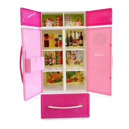 Girls Kitchen Play Set Australia - Children Pretend Play Toy Kids Kitchen Cooking Set Girls ABS Simulation Mini Cabinet Stove Toy Dollhouse Appliances Cabinet Sets