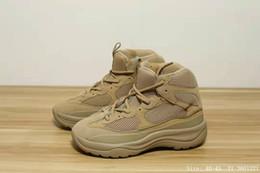 01b43d945 Hombres Kanye Season 6 Desert Rat Boot 2019 Fashion West Sports Sneaker Zapatillas  de running