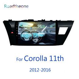 Discount special car dvd toyota corolla - for head unit Toyota Corolla radio 11th generation 2012-2016 10.1 inch car multimedia player e160 e170 euro version car
