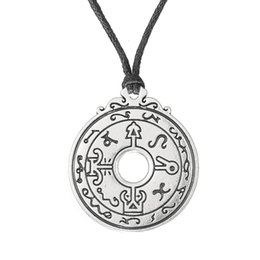 pewter pendant wholesalers Australia - 10PCS Handmade Healers Magical Talisman Pewter Power Pendant Necklace Link Chain Rope Adjustable Pendant Necklace
