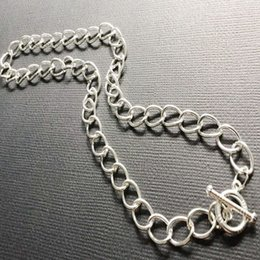 Toggle Pendants NZ - Chunky Chain Necklace Pendant Vintage Silver Charms Collar Cable Choker Fastener Toggle Necklace Statement Jewelry Women Halloween Gift