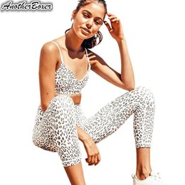 $enCountryForm.capitalKeyWord Australia - Two Piece Yoga Set Leopard Sports Set Women Fitness Tracksuit Bra+Leggings Sport Pants Women Suits Sexy Leggin Yoga Sportswear #988494