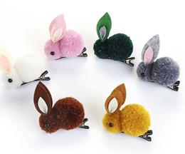 $enCountryForm.capitalKeyWord Australia - New Kids Cute Rabbit Headbands Headwraps Animals Hairpins Plush Rabbit Ears Hair Clips Girls Hair Accessories