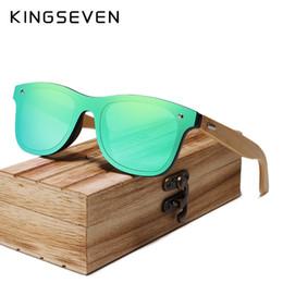 19f820ae4acf KINGSEVEN 2019 Bamboo Polarized Sunglasses Men Wooden Sun glasses Women  Brand Original Wood Glasses Oculos de sol masculino #16099