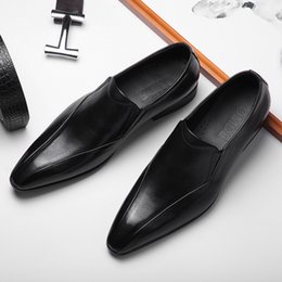 $enCountryForm.capitalKeyWord NZ - Dawdler Loafer Foot Set Patent Man England Leisure Time One Pedal Enchanting2019 Male Shoe Genuine Leather Sharp Shoes