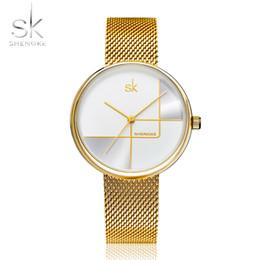 $enCountryForm.capitalKeyWord Australia - Shengke Gold Watch Women Watches Ladies Milan Mesh Steel Women's Bracelet Watches Female Clock Relogio Feminino Montre Femme MX190720