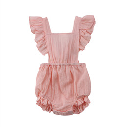 $enCountryForm.capitalKeyWord Australia - Newborn Kids Baby Girls Infant Romper Jumpsuit Playsuit Sleeveless Summer Clothes Outfit Rompers Brown Pink White