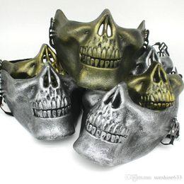 $enCountryForm.capitalKeyWord Australia - Halloween Dance Party Terrorist masks Soldier Wargame Skeleton Skull Bone masks warrior Full Face Protect Protector Mask gift