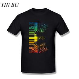 Keyboard instrument online shopping - Keyboard Piano Gift ian Instrument Notes T Shirt Slim Fit Men Short Sleeve New T Shirts Black Men s T Shirts