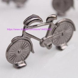 bicycle party decorations NZ - 200pcs Vintage Alloy Antique Bike Bicycle Design Table Card Holder Stand Wedding Decoration Table Number Place Stand Memo Holders Party Gift