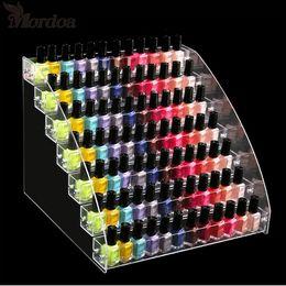 Acrylic Nail Polish Display-Organizer 2-3-4-5-6-7 Schicht Maniküre Kosmetik Schmuckausstellungsstand-Halter Plexiglas Makeup Box im Angebot