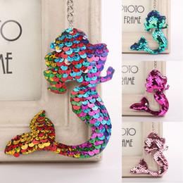 $enCountryForm.capitalKeyWord Australia - 4 Styles Unique Sequins Fishtail Pendant Keychain Keyrings Charm Mermaid Shaped Key Rings Women Fashion Jewelry Christmas Gifts H862Q F