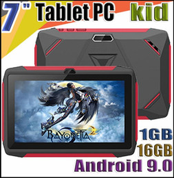 tablet android q8 Australia - FREE DHL kid Tablet PC Q98 Quad Core 7 Inch 1024*600 HD screen Android 9.0 AllWinner A50 1GB RAM 16GB Q8 with Bluetooth wifi with Retail box