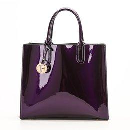 $enCountryForm.capitalKeyWord Australia - Bright Solid Patent Leather Women Fashion Bags Ladies Simple Luxury Handbags Casual Shoulder Messenger Bags Sac A Main Tote Bag Y190626