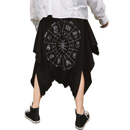 57f0beb62 Nightclub DJ singer punk rock hip hop baggy harem pants black drop crotch stage  costume mens gothic style street wear joggers