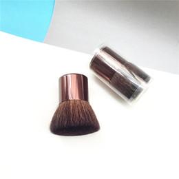 metal makeup brushes 2019 - SEP MINI BUKI FLAT BUFFER BRUSH - Portable Natural Hair Foundation Powder Blush Contour Buffing Brush - Beauty Makeup Bl