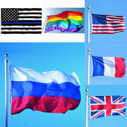 Discount pride flags wholesale - 3*5ft 90*150cm Rainbow Flags And Banners Lesbian Gay Pride LGBT Flag Polyester Colorful Flag For Decoration 26 Design XD