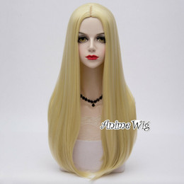 """Discount lolita wigs blonde - 65CM 25"""" Lolita Women Long Wavy Light Blonde Hair Celebrity Party Cosplay Wig>>>>>Free shipping New"""