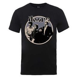 Music Band Tees UK - The Doors Circle T-Shirt Official Black Mens Unisex Jim Morrison Music Band Tee