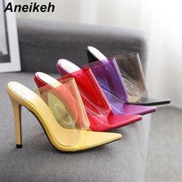 $enCountryForm.capitalKeyWord Australia - wholesale Best Sellers Slippers High Heels Sandals Fashion Candy Color Transparent Heels Flip Flops Women Summer PVC Jelly