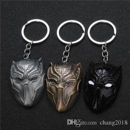 $enCountryForm.capitalKeyWord Australia - 17 styles Fashion Movie The Avengers 3 American Captain Civil War Metal Keychain Bronze Silver Black Panther Mask Men Women Keyring jssl001