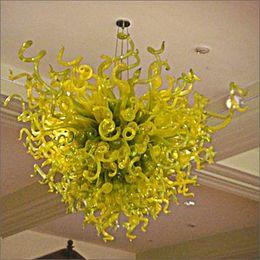 $enCountryForm.capitalKeyWord Australia - Modern Art Deco Hand Blown Glass Art Chandelier Restaurant Hotel Lights Blown Glass Chain Pendant Lamps for Living Room Decor