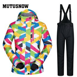 $enCountryForm.capitalKeyWord NZ - MUTUSNOW Brands Ski Suit Women High Quality Female Windproof Waterproof Winterproof Sets Snow Jacket And Pants Skiing And Snowboarding Suits