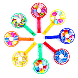 $enCountryForm.capitalKeyWord Australia - 2019 Cute Baby Kids Windmill Toy Colorful Small Windmills Toy Children Plastic Windmill Whistling Handle Toys Pinwheel Wind Spinner