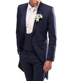 $enCountryForm.capitalKeyWord UK - New Arrivals Navy Blue Men Suits Slim Fit Tailor Made Groom Prom Tuxedos Male Coat 3 Piece Blazer Jacket+Pants+Vest Terno