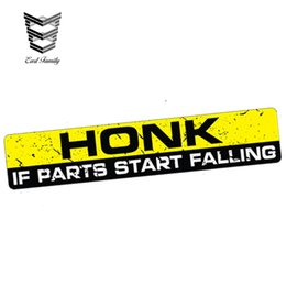 Wholesale Car Styling HONK IF PARTS START FALLING Sticker Decal Funny Bumper Window Car Truck Decals JDM Car Sticker cm X cm