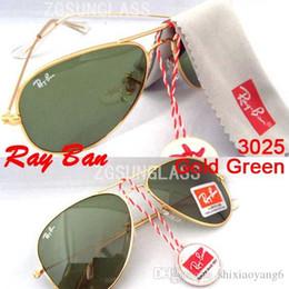Glasses Sun Protection Australia - 1pcs High quality Classic Pilot Sunglasses Designer Large Metal Sun Glasses For Men Women Silver Mirror 58mm 62mm Glass Lenses UV Protection