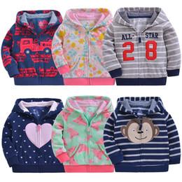 BaBy Boy velvet jacket online shopping - 0 year old neonatal jacket baby boy and girl rocker velvet cap zipper for children long sleeve jacket for infants