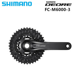 Bike Chain Wheel Australia - SHIMANO DEORE M6000 Black 10 Speed Chainset Crankset 3x10-Speed Chain Wheel crank protector crank update from M610