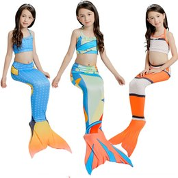 skirted bikini sets Australia - t50cG Swimming skirt Mermaid children 2019 girl three-piece set Swimming skirt Mermaid children Bikini Swimsuit bikini 2019 girl swimsuit th