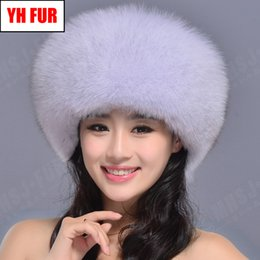 $enCountryForm.capitalKeyWord Australia - 2019 Women Winter Natural Real Fox Fur Hat Warm Soft Fluffy Genuine Fox Fur Cap Luxurious Good Quality Real Bomber Hats