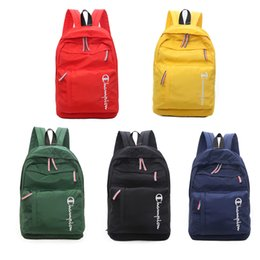 Wholesale Luxury Designer Backpack Men Women Champions Brand Shoulder Bags Nylon Back Pack Big Size Sports Travel Duffle Totes Bag Schoolbag NEW C7404
