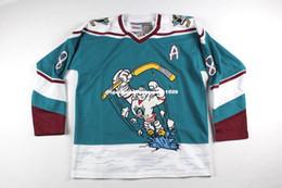 Cheap personalized hoCkey jerseys online shopping - Cheap custom New Vintage Anaheim Mighty Ducks Teemu Selanne Hockey Jersey Wild Wing Mens Personalized stitching jerseys