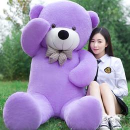 f6041180c29 2018 New arrival 220CM 2.2M big purple giant teddy bear soft plush stuffed  kid baby dolls life size teddy bear soft